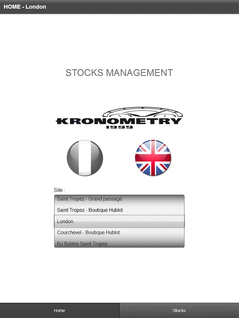 Stock management iPad application
