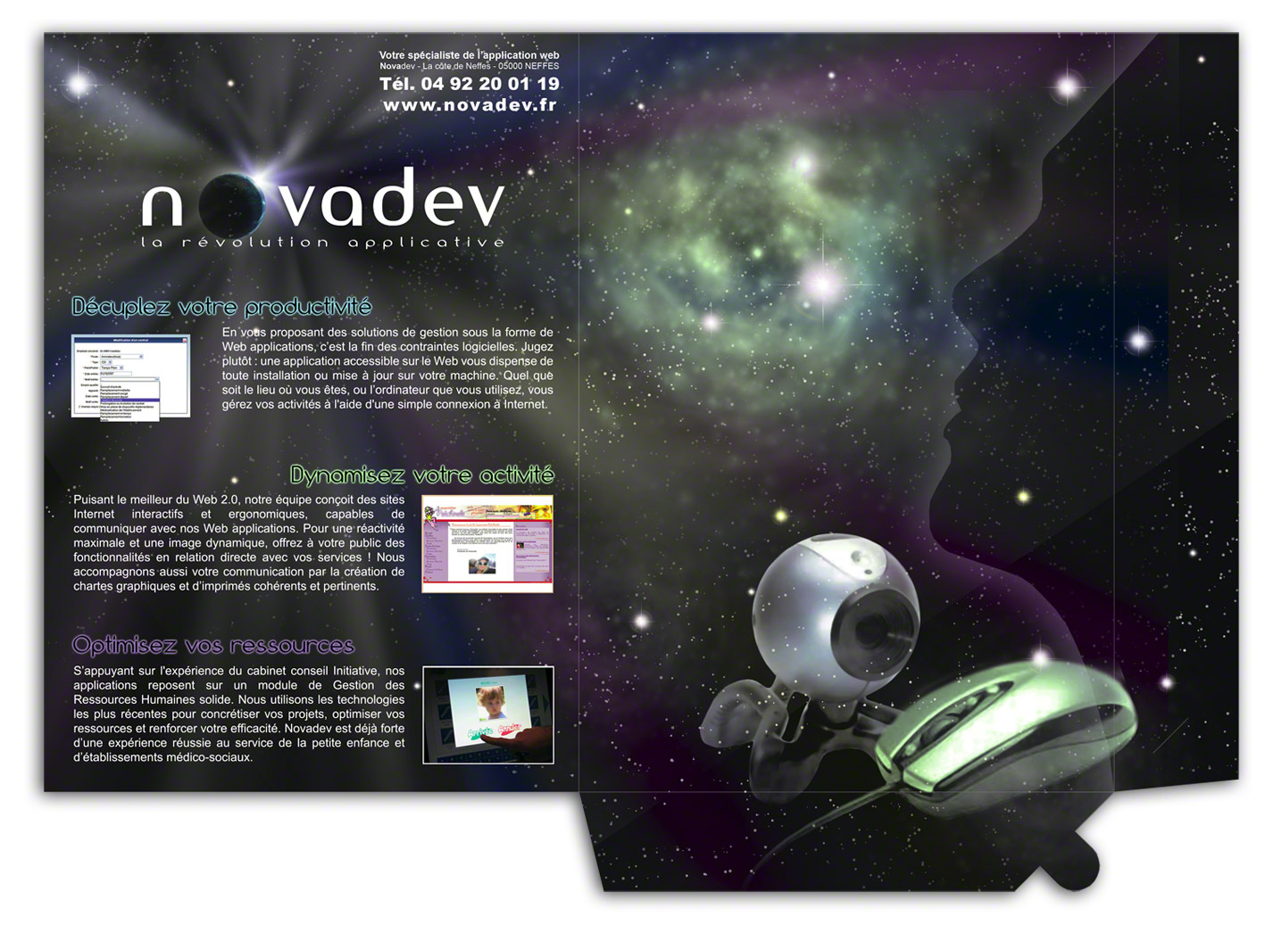 Pochette 2 rabats Novadev