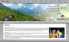 Site internet station des 2 Alpes (version été 2007)