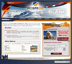 Site internet station des 2 Alpes (version hiver 2007-2008)
