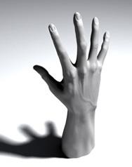 Main virtuelle (noir et blanc)