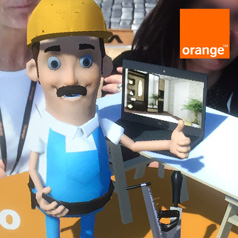 Orange augmented reality